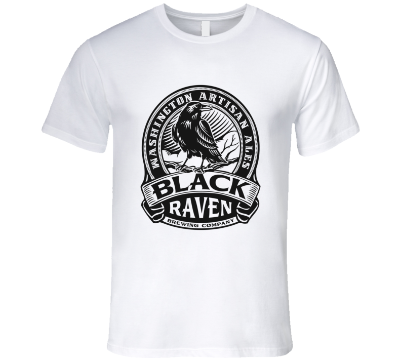 Black Raven Brewing Company Logo Graphic Tshirt