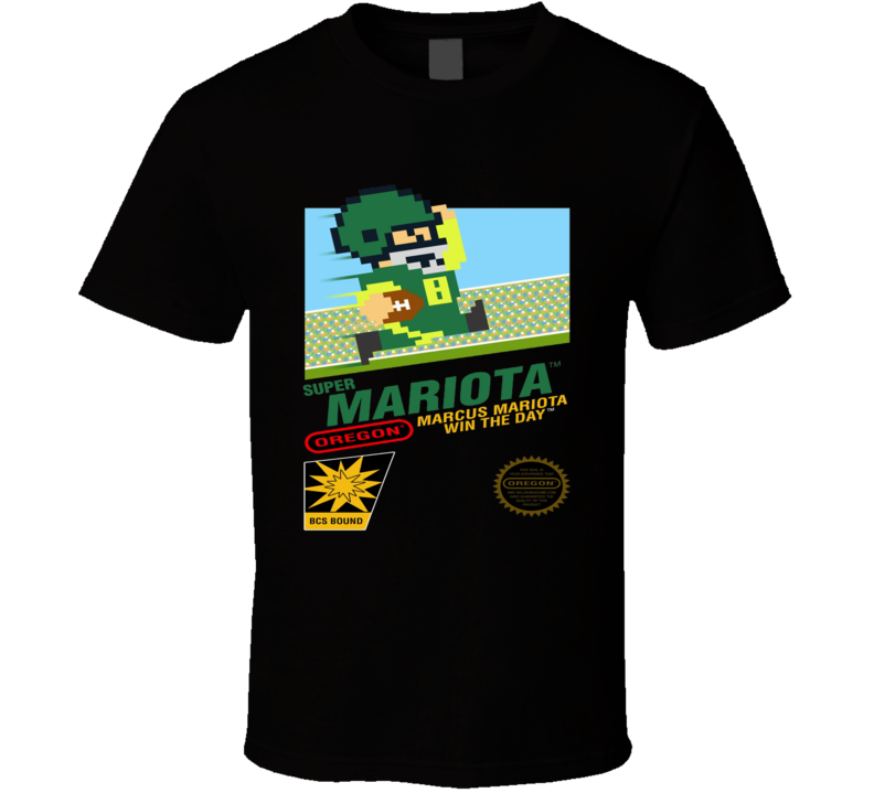 Super Mariota Oregon Ducks Marcus Mariota Ncaa Football Super Mario Prody T Shirt
