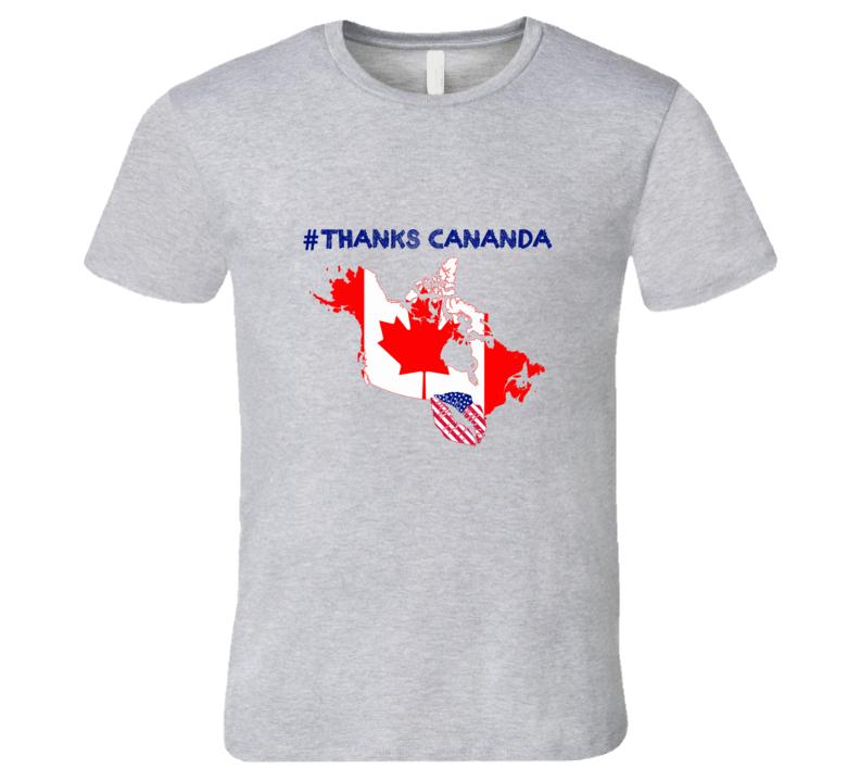 Hashtag Thanks Canada Trump Trudeau Spat Graphic Tshirt