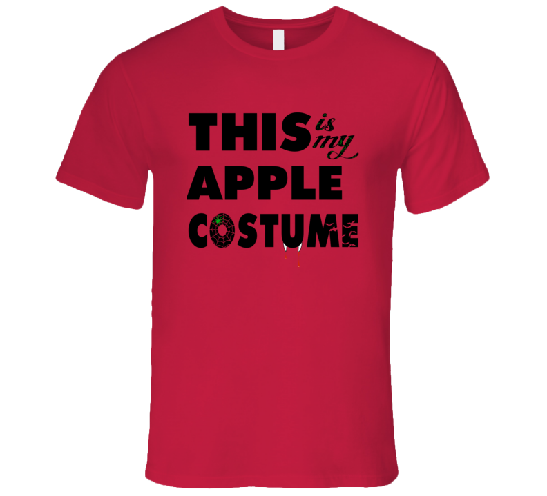 This Is My Apple Costume Halloween Tshirt