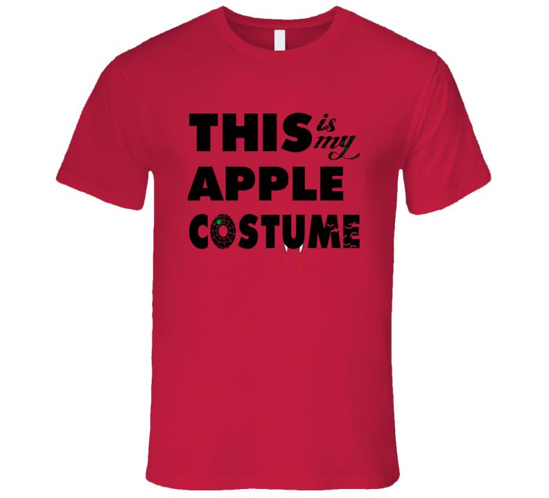This Is My Apple Costume Halloween Tshirt