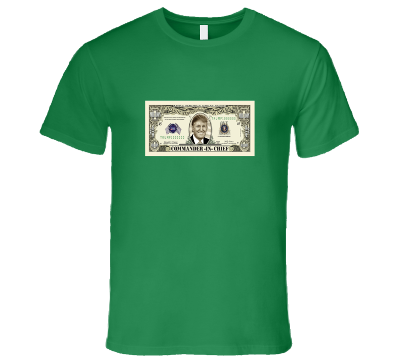Donald Trump On Usa  Million Dollar Bill Graphic T Shirt