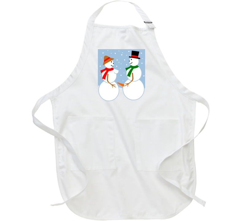 Ugly Christmas Snow Couple Adult Apron