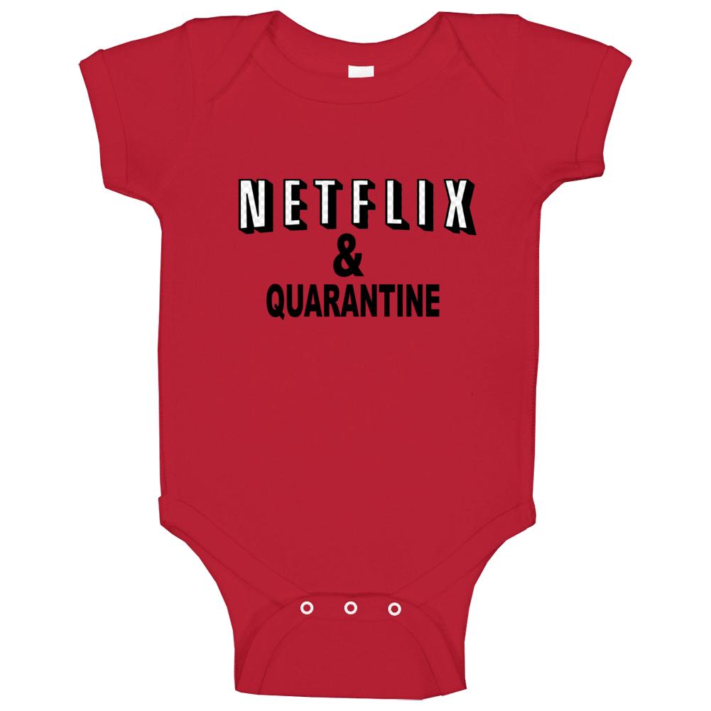 Netflix And Quarantine Meme Graphic Baby One Piece