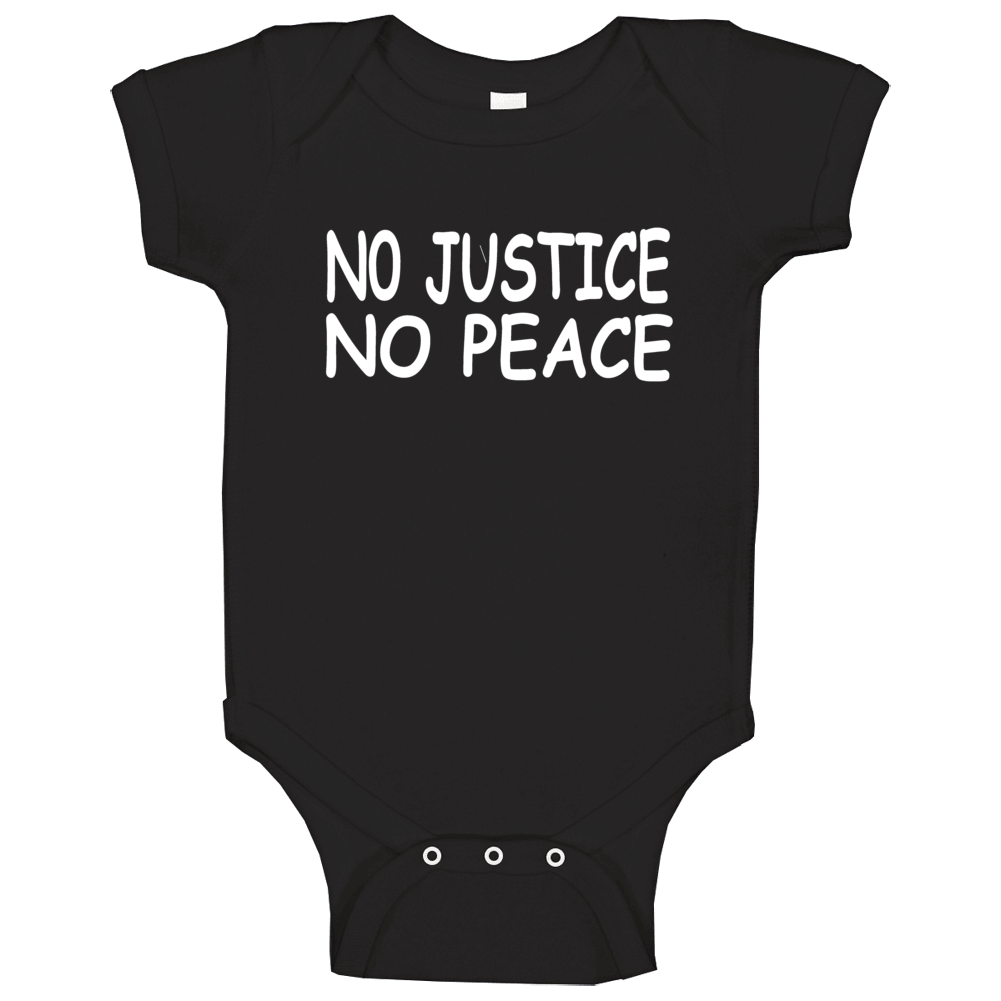 No Justice No Peace George Floyd Support Protest Baby One Piece