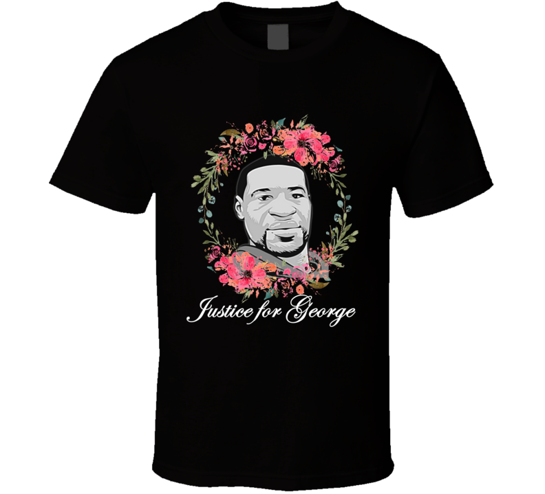 Justice For George Support Tribute T Shirt