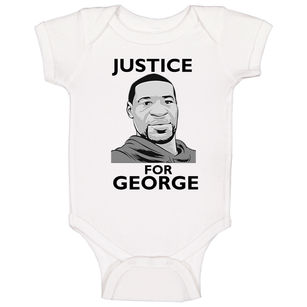 Justice For George Tribute Support Baby One Piece