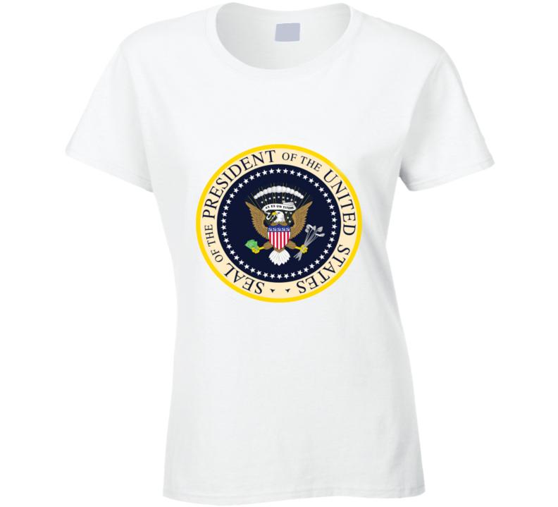 Fake Presidential Seal Donald Trump Inspired Ladies T Shirt