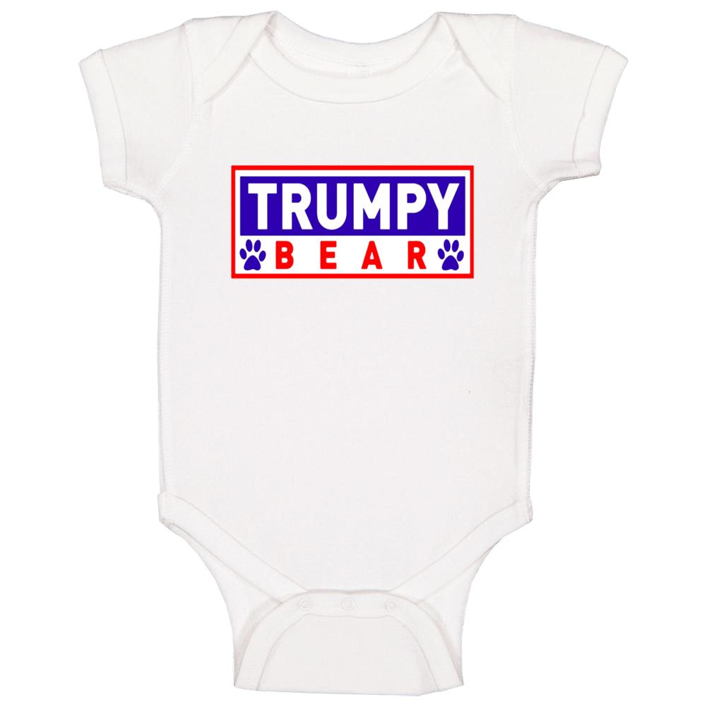 Trumpy Bear Logo Graphic Baby One Piece