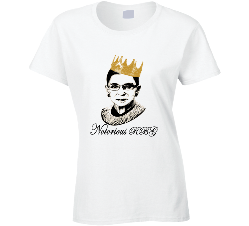 Ruth Bader Ginsburg Notorious R B G Tribute Graphic Tee Ladies T Shirt