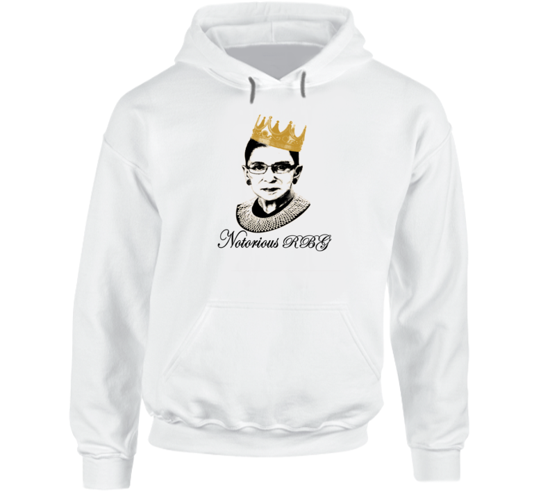 Ruth Bader Ginsburg Notorious R B G Tribute Graphic Tee Hoodie