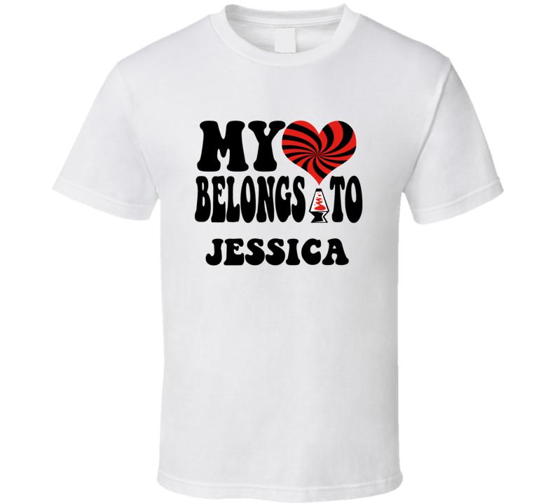 My Heart Belongs Love Jessica T Shirt