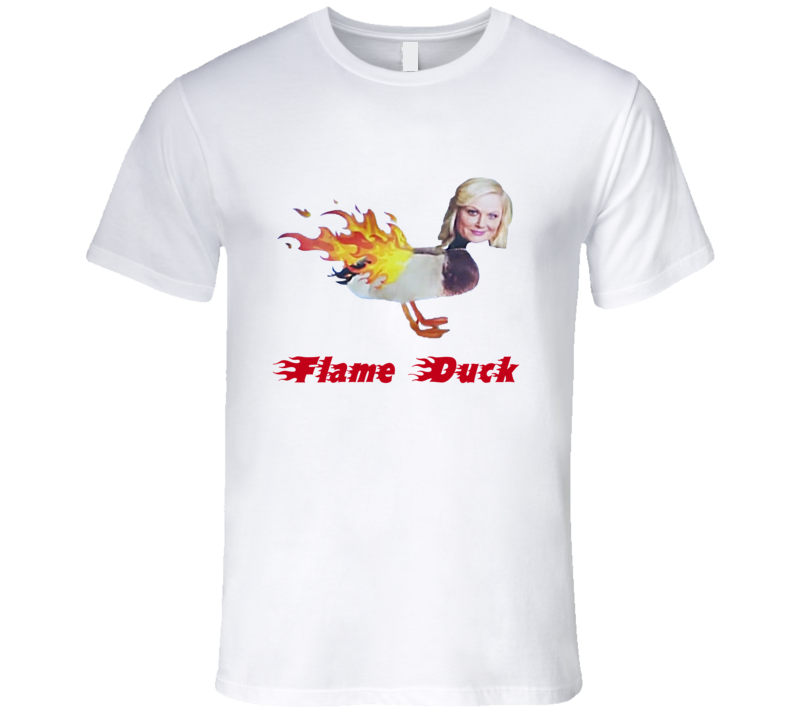 Flame Duck Parks And Recreation Funny Popular TV Show T Shirt