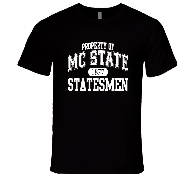 Property of MC State Statesmen Fun 22 Jump Street Popular Movie T Shirt