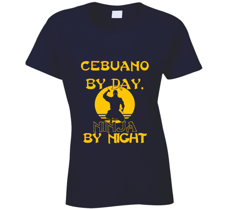 Cebuano Filipino By Day Ninja By Night Grandmother T Shirt