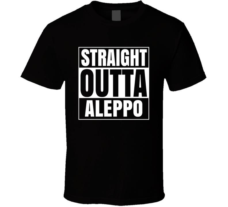 Straight Outta Aleppo Pennsylvania City Parody T Shirt