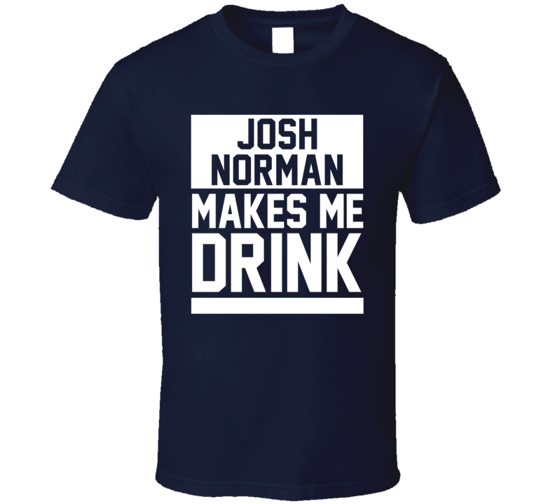 Alstyle Josh Norman Makes Me Drink Carolina Football Player Fan T Shirt Unisex Tshirt