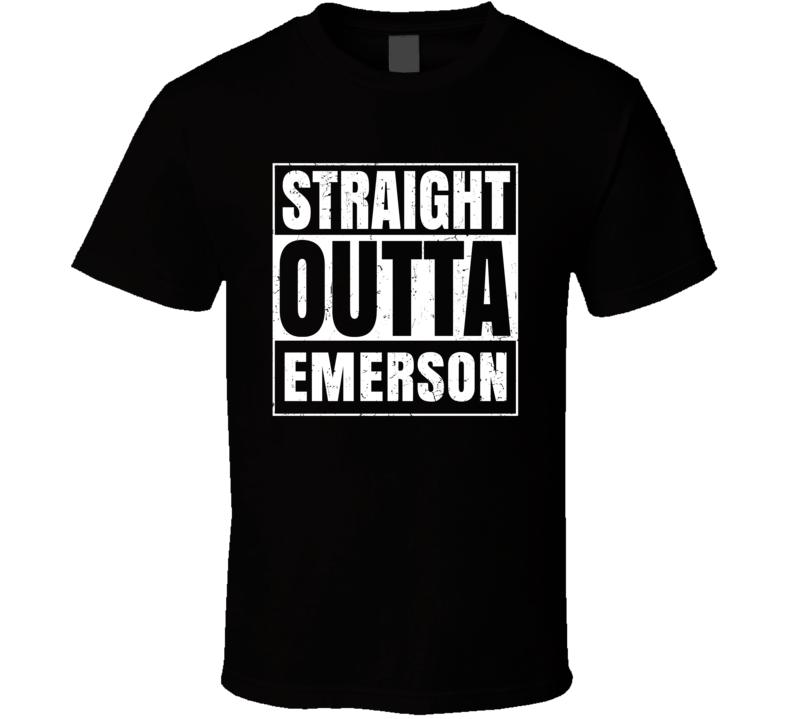 Emerson MA University College Straight Outta Graduation Parody Fan T Shirt