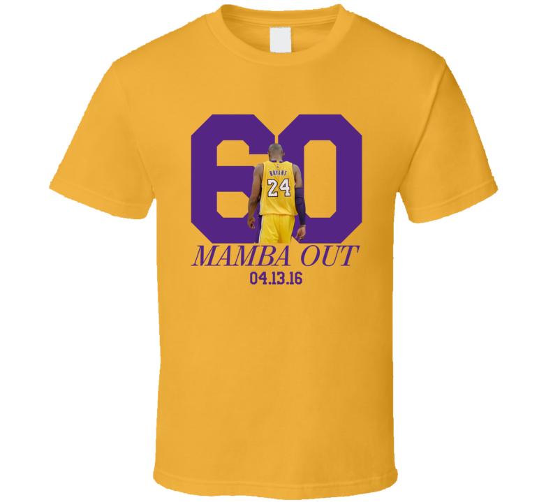 Kobe Bryant 60 Points LA Los Angeles Basketball Fan T Shirt
