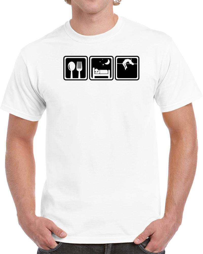 High Jump Eat Sleep Repeat Sport Hobby Fan T-shirt