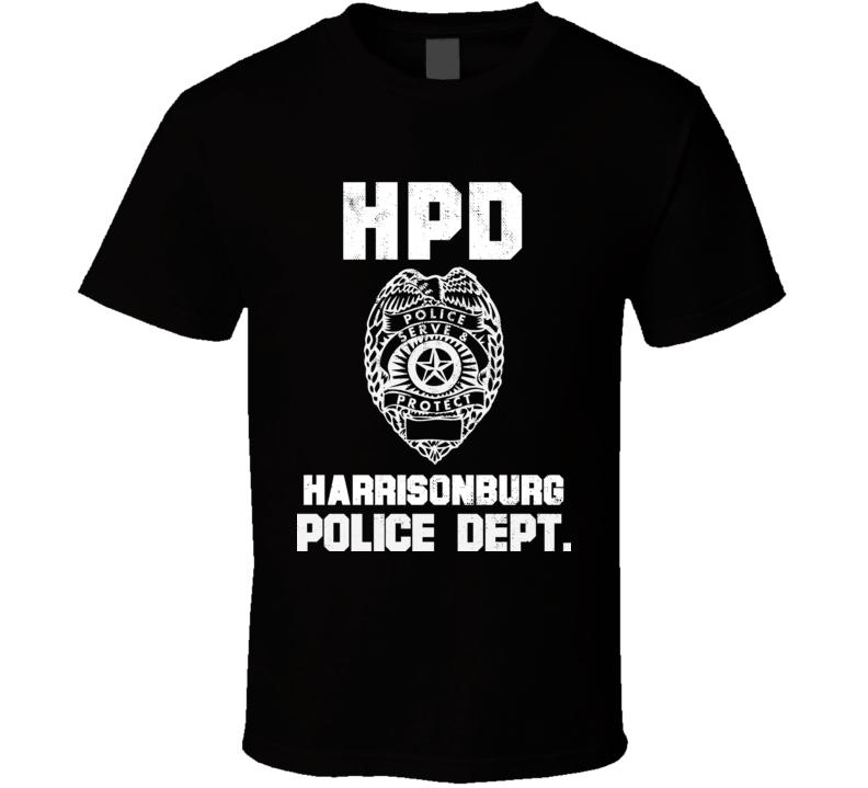 Harrisonburg Virginia Police Department Dept Hpd Officer Custom Usa City T Shirt