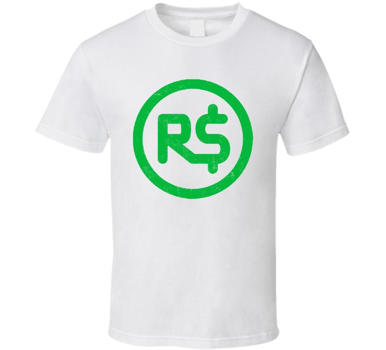 Roblox Robux Money Gamer Online Social Network Game Gaming App Icon Logo Fan T Shirt