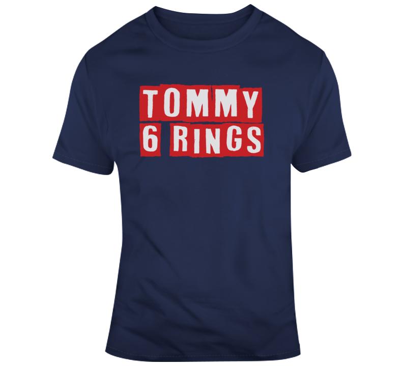 Tom Brady Tommy 6 Rings New England Football T Shirt
