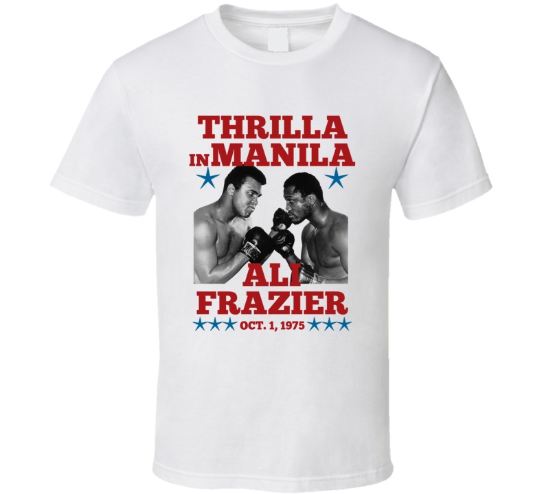 Thrilla In Manila Ali Frazier Fight 1975 Boxing Fan T Shirt