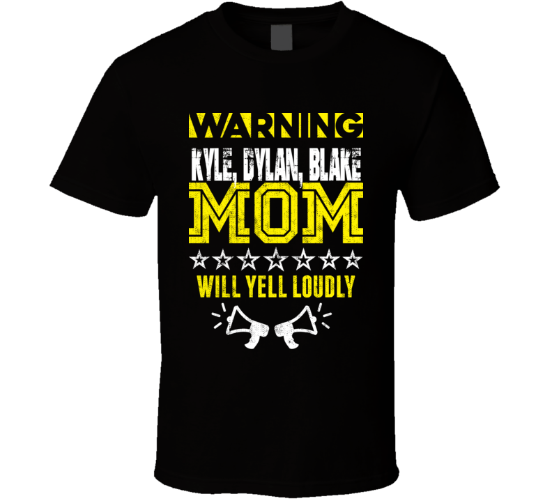 Warning Mom Funny Sports And Hobbies Customizable T Shirt