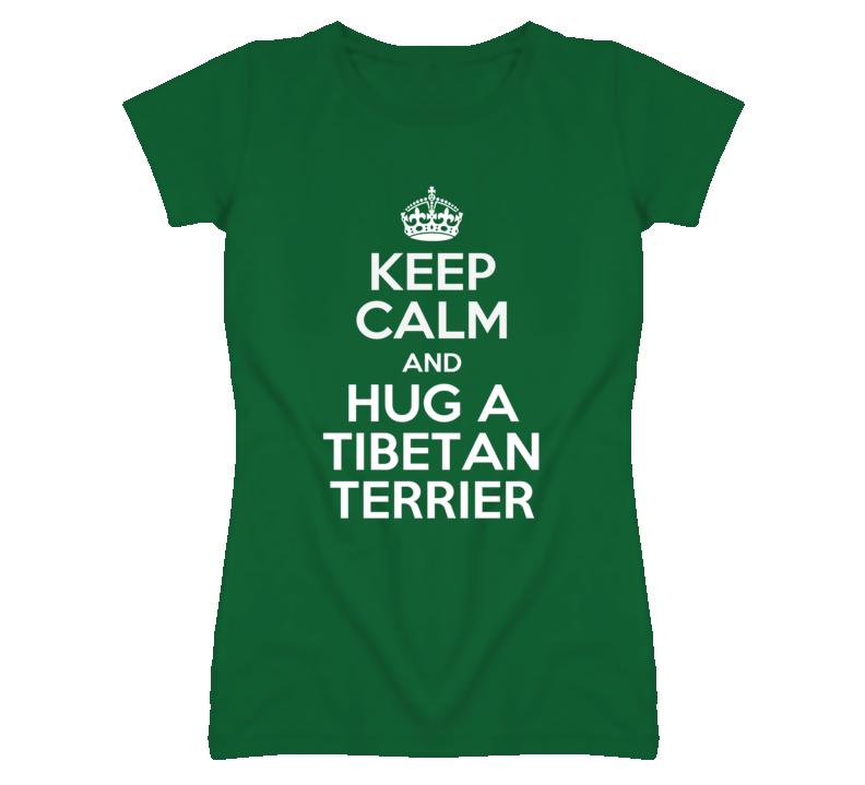 Keep Calm And Hug Tibetan Terrier Rescue Dog T Shirt