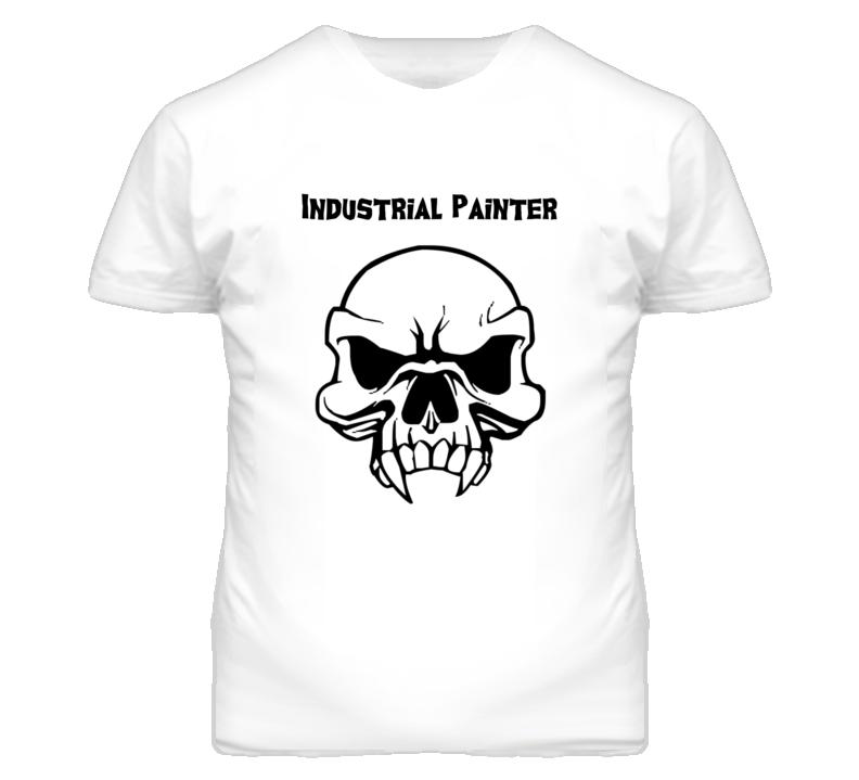 Industrial Painter Skull Design Mens T Shirt