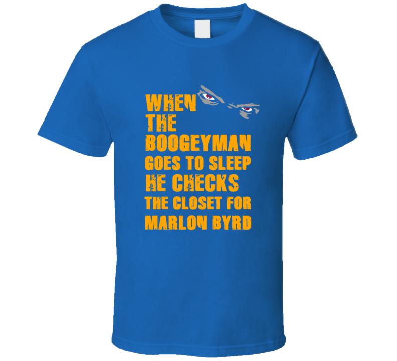 Marlon Byrd New York Brooklyn Baseball Sports Boogeyman T Shirt