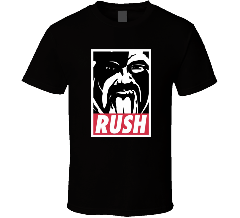 Classic Wrestler 80s Retro Tribute Rush T Shirt