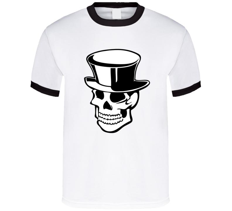 Skull Top Hat T Shirt