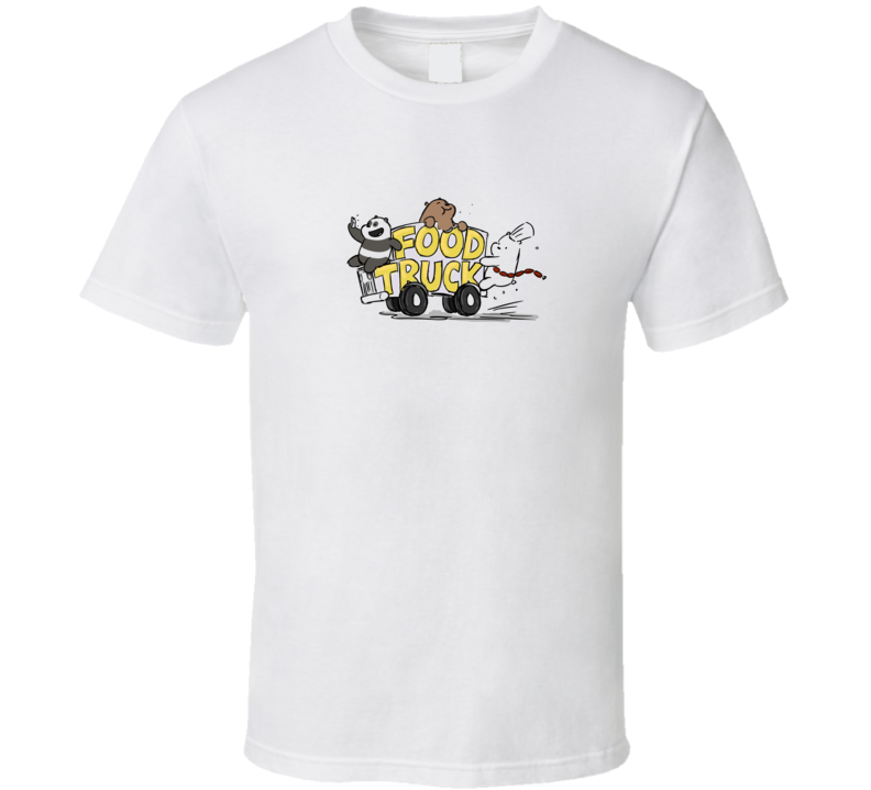 We Bare Bears Food Truck Network T Shirt