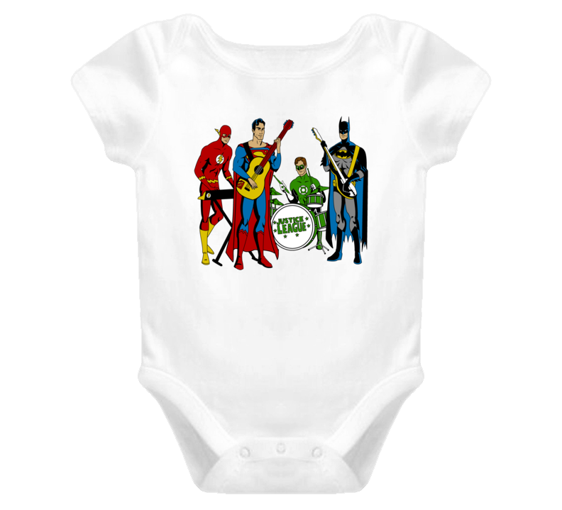 Justice League Band Baby one piece
