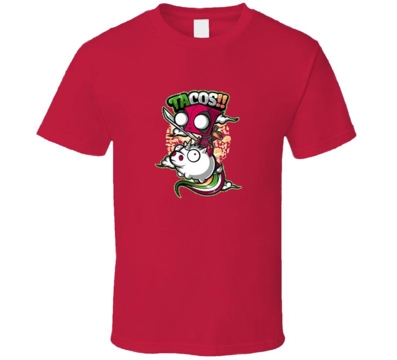 Invader Zim - DeadPool Giz Red T-Shirt