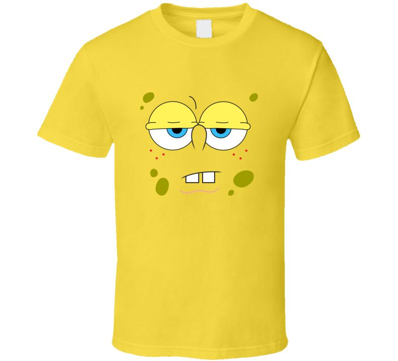 Spondgebob Square pants - Blank Expression Yellow T-Shirt