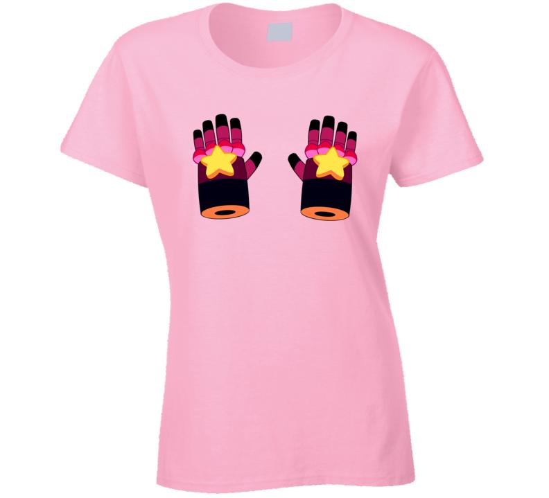 Steven Universe Gauntlets Garnet hands Ladies T-Shirt