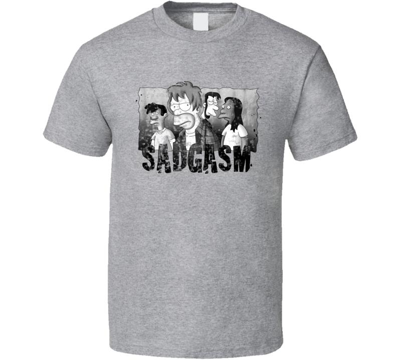 Sadgasm 90s Grunge Music Cartoon Rock Vintage T Shirt