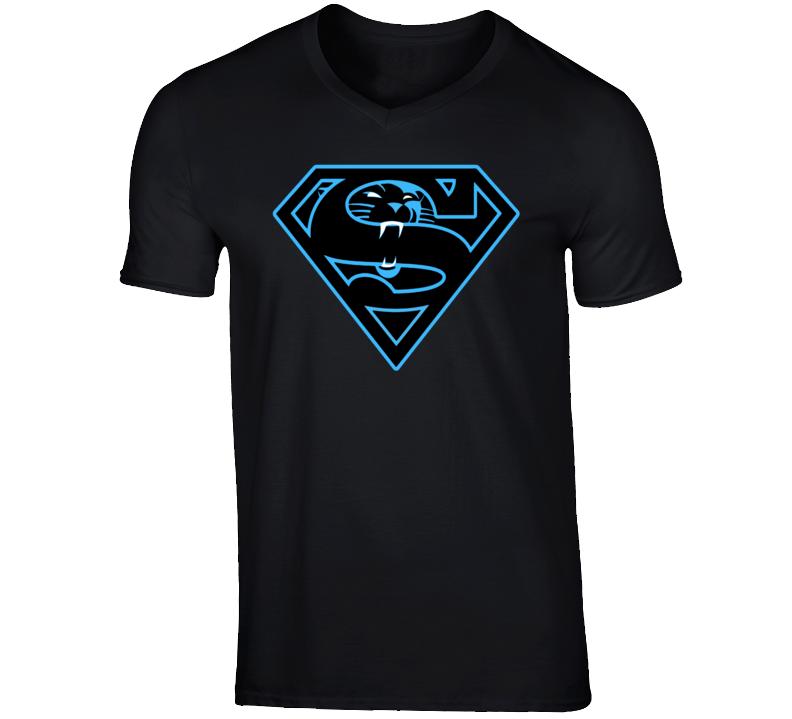 Carolina Panthers Superman Football Cam Newton Luke T Shirt