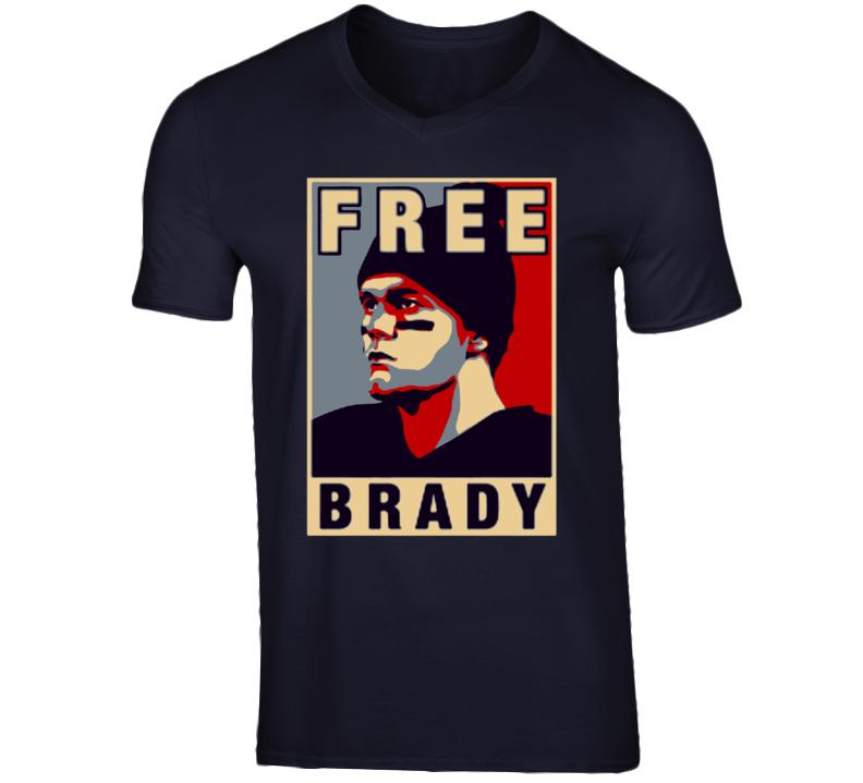Free Tom Brady New England Patriots Deflate gate T Shirt