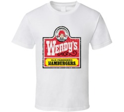 Wendys Fast Food Restaurant Distressed Look T Shirt