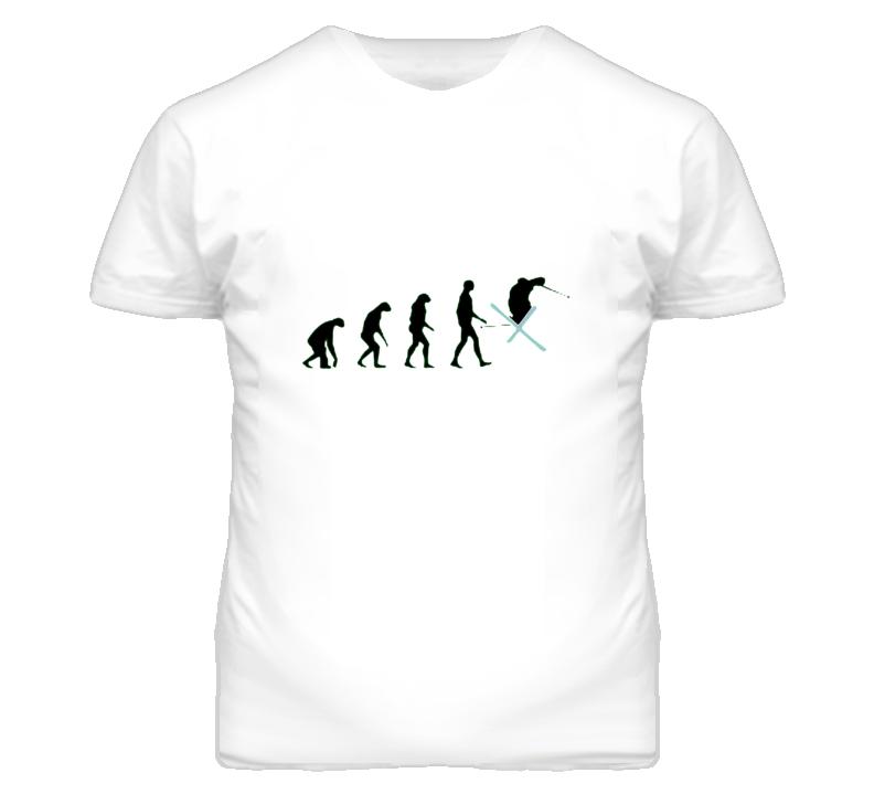3402ce4f Ski Racing Evolution Of Ski Racing Funny Sport Skiing T Shirt