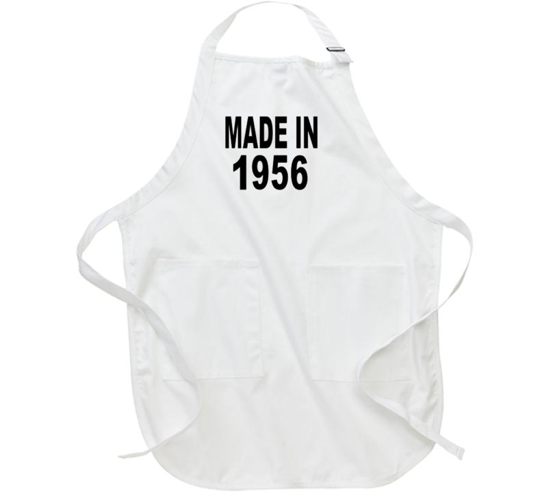 Made in 1956 Apron Tshirt Food Cooking Fun
