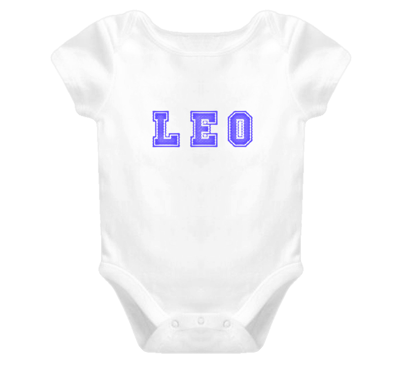 Leo Baby One Piece Onsie Personal Name T Shirt Baby One Piece