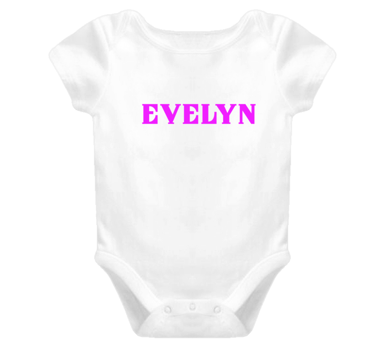 Evelyn Onsie One Piece Baby Clothes Personalized Onsie T Shirt