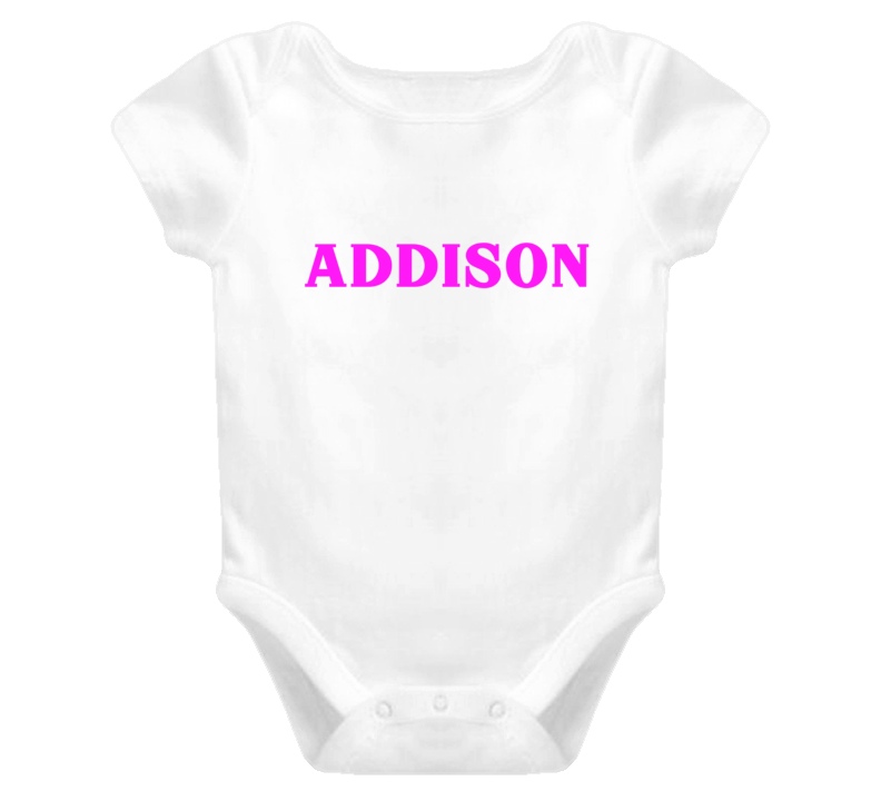 Addison Baby One Piece Personalized Onsie Baby One Piece T Shirt