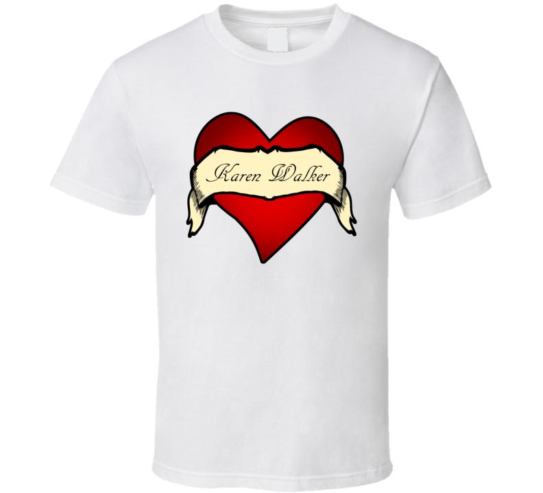 Karen Walker Heart Tattoo TV Show T Shirt
