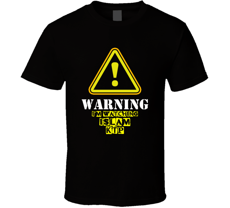Islam KTP Roro Fitria Mpok Tati TV Show Warning I'm Watching Funny T Shirt